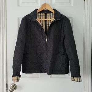 Burberry Black Quilted Classic Check Jacket